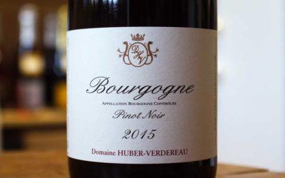 Bourgogne Pinot Noir 2015 – Huber-Verdereau