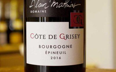 Côte de Grisey – Bourgogne Epineuil 2017 – Alain Mathias