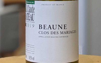 Beaune Clos des Mariages 2019 - J.Claude Rateau